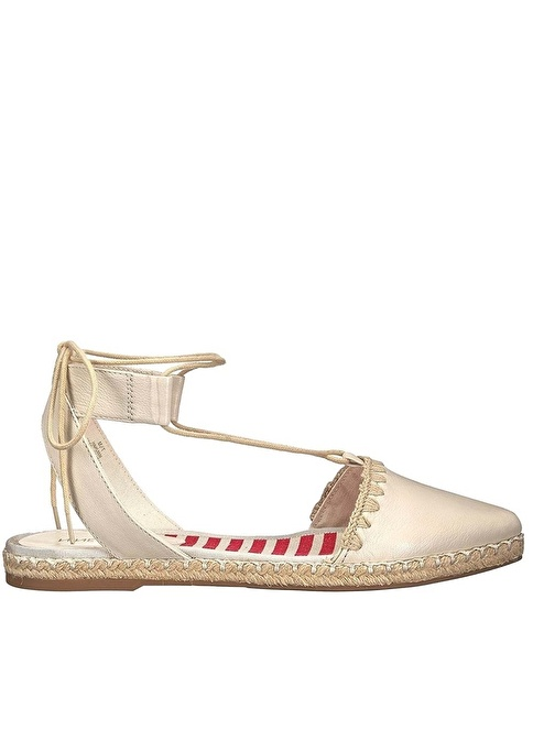 Nine West %100 Deri Sandalet Beyaz